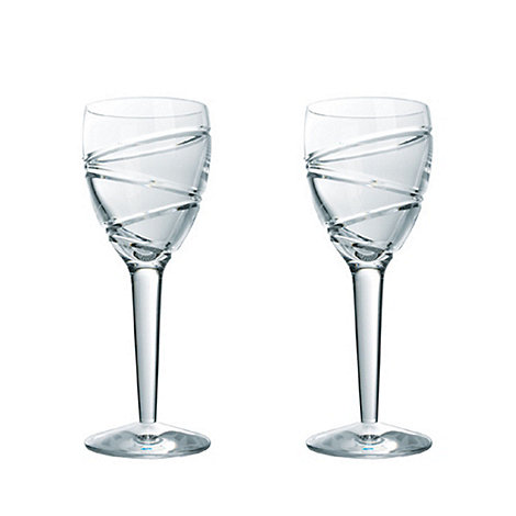 Jasper Conran at Waterford Crystal - Set of two +Aura+ 24% lead crystal wine glasses