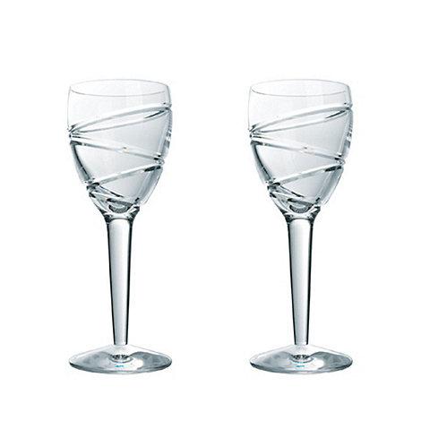 Jasper Conran at Waterford Crystal - Set of 2 lead crystal +Aura+ wine glasses