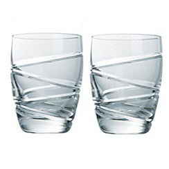 Jasper Conran at Waterford Crystal - Set of two 'Aura' 24% lead crystal tumblers