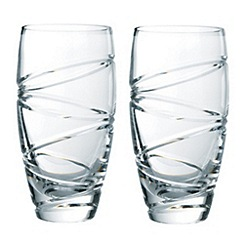 Jasper Conran at Waterford Crystal - Set of two 'Aura' 24% lead crystal long drink glasses