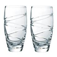 Set of two 'Aura' 24% lead crystal long drink glasses