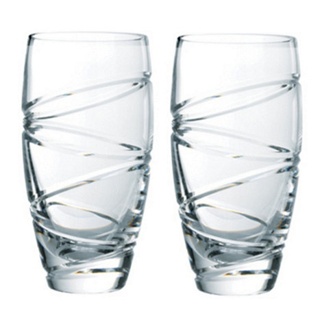Jasper Conran at Waterford Crystal - Set of two +Aura+ 24% lead crystal long drink glasses