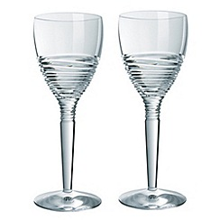 Jasper Conran at Waterford Crystal - Set of two 'Strata' 24% lead crystal goblets