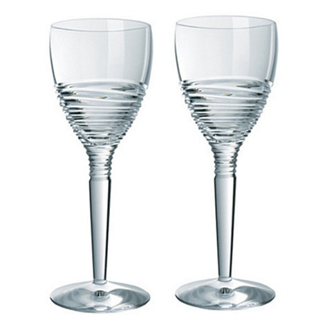 Jasper Conran at Waterford Crystal - Set of two +Strata+ 24% lead crystal goblets