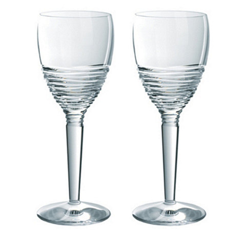 Jasper Conran at Waterford Crystal - Set of two +Strata+ 24% lead crystal wine glasses