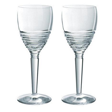 Jasper Conran at Waterford Crystal - Set of 2 lead crystal +Strata+ wine glasses