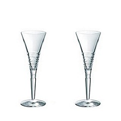 Jasper Conran at Waterford Crystal - Set of two 'Strata' 24% lead crystal champagne flutes