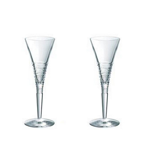 Jasper Conran at Waterford Crystal - Set of two +Strata+ 24% lead crystal champagne flutes
