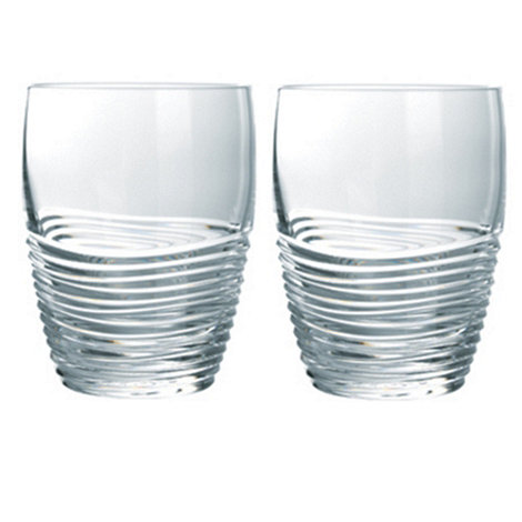 Jasper Conran at Waterford Crystal - Set of two +Strata+ 24% lead crystal tumblers