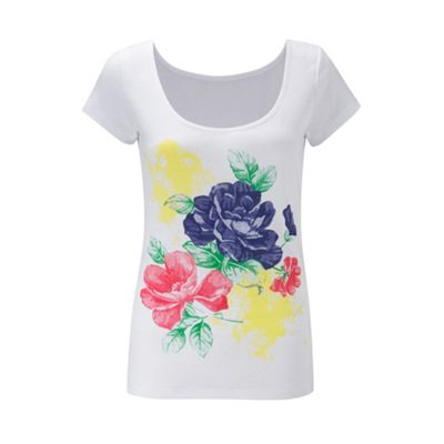 Bright floral tee