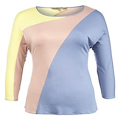 Gorgeous - Blue colour block top