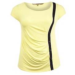 Gorgeous - Bright yellow button placket top