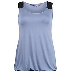 Gorgeous - Blue tab shoulder tunic