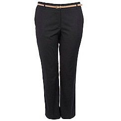 Gorgeous - Black bootcut belted trousers