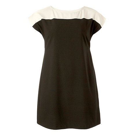 Gorgeous - Black colour block tunic dress