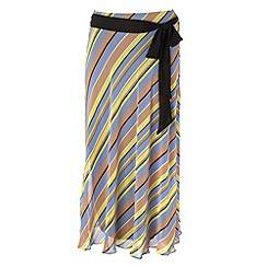 Gorgeous - Blue striped chiffon skirt