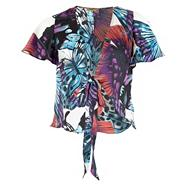 Multi Coloured Butterfly Print Shrug