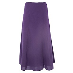 Gorgeous - Purple plain maxi skirt