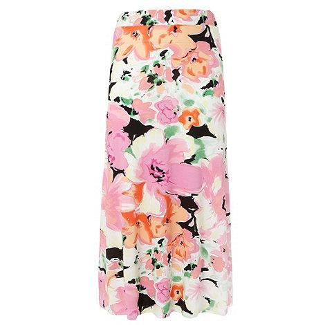 Gorgeous - Pink petal print maxi skirt