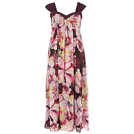 Gorgeous - Pink waterlily print maxi dress