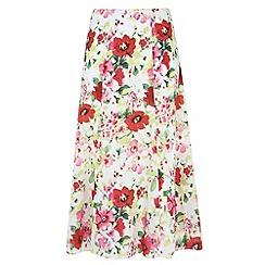 Gorgeous - White floral printed maxi skirt