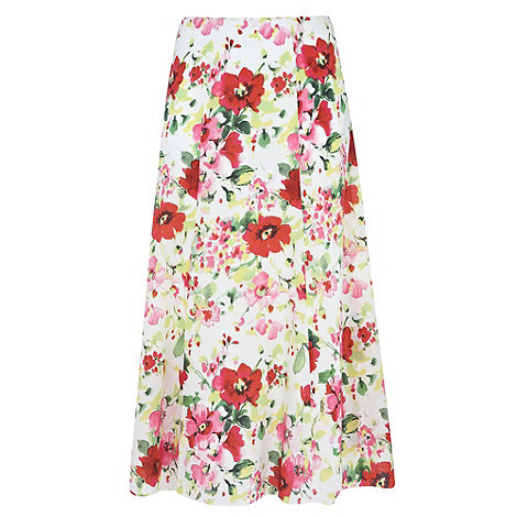 Gorgeous - White floral printed maxi skirt
