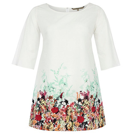 Gorgeous - White petal border tunic