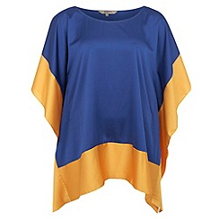 Gorgeous - Blue colour block poncho