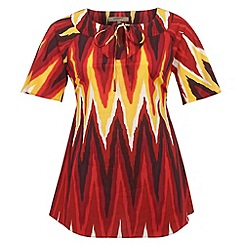 Gorgeous - Dark red tribal kaftan