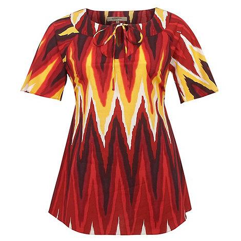 Gorgeous - Dark red tribal kaftan
