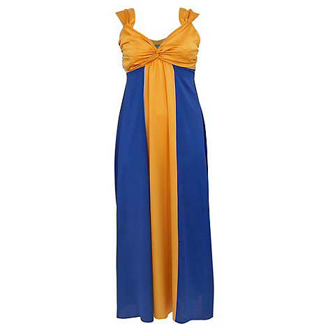 Gorgeous - Blue colour block maxi dress
