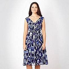 Gorgeous - Blue abstract chiffon dress