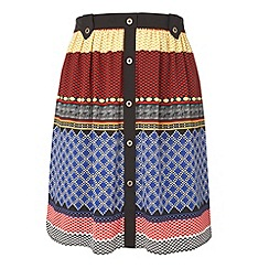 Gorgeous - Dark blue mexican print skirt
