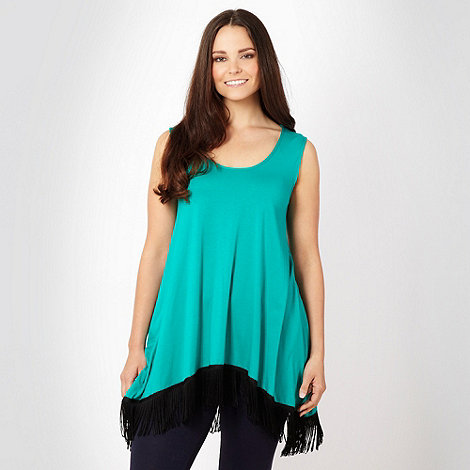 Gorgeous - Green tassel hem top