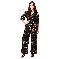 Gorgeous - Black floral jumpsuit