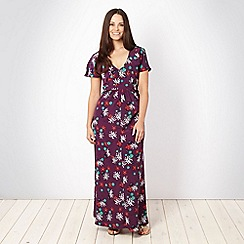 Gorgeous - Plum floral maxi dress
