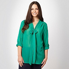 Gorgeous - Green pussy bow blouse
