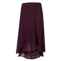 Gorgeous - Plum split hem skirt