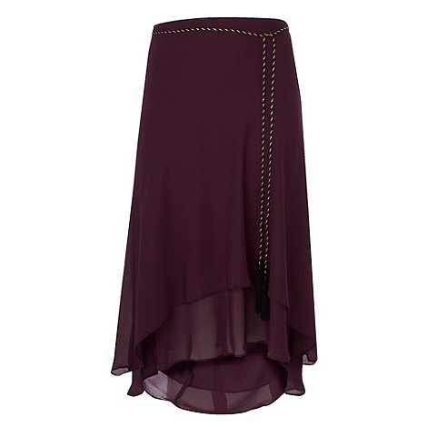 Gorgeous - Plum split hem skirt
