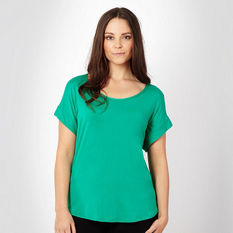 Gorgeous - Green tassled sleeveless top