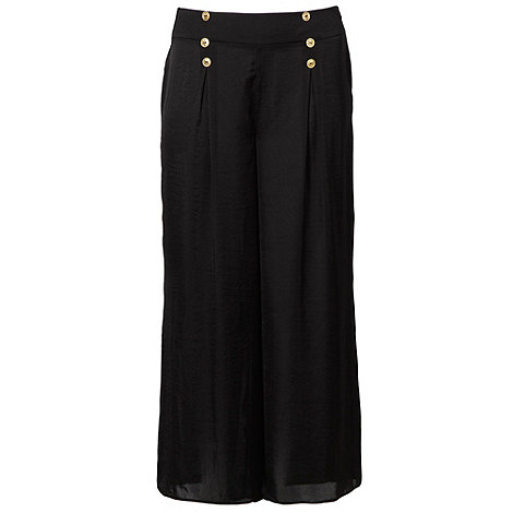 Gorgeous - Black military-style buttoned palazzo pants