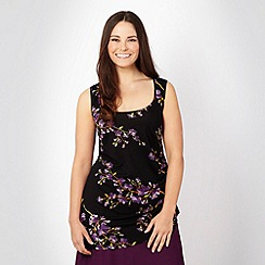 Gorgeous - Black floral print jersey top