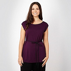 Gorgeous - Purple rope belted tunic top