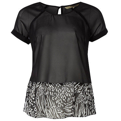 Gorgeous - Black animal patterned hem