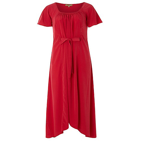 Gorgeous - Dark coral tie waist maxi dress