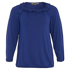 Gorgeous - Royal blue gypsy jersey top
