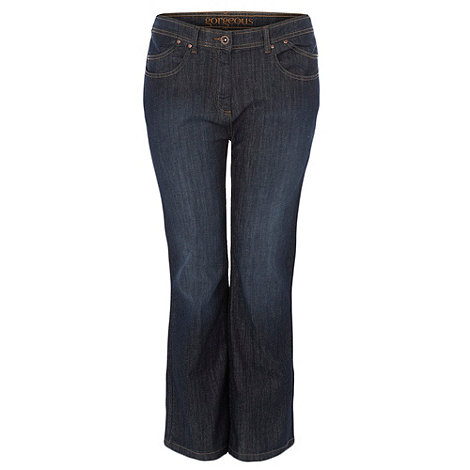 Gorgeous - Dark blue bootcut jeans