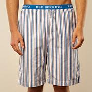 Blue multi striped loungewear shorts