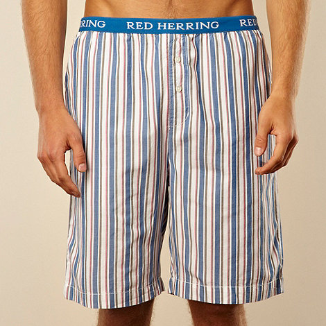 Red Herring - Blue multi striped loungewear shorts