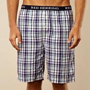 Purple checked loungewear shorts